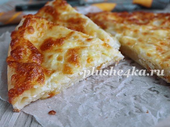 Хачапури с сыром на кефире, приготовленное в духовке