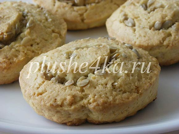 Печенье из песочного теста с семечками