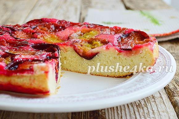 Пирог Тарт Татен со сливами