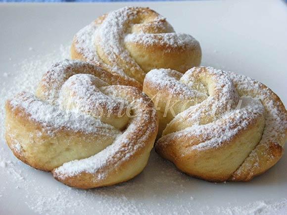 Печенье «Розочки» из творожного теста