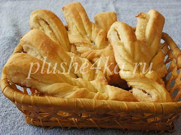 Печенье из ложного слоеного теста