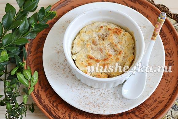 Суфле из яблок, приготовленное в духовке