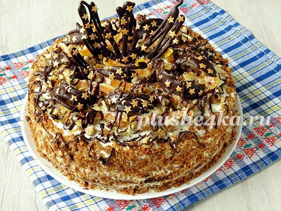 Домашний торт «Медовик» на кефире