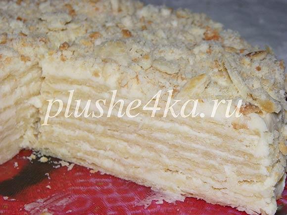 Торт «Наполеон» на кефире без яиц