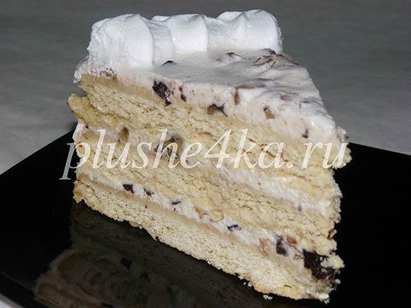 Торт из песочных коржей со сметанным кремом