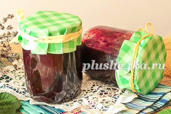 Варенье из малины и черной смородины