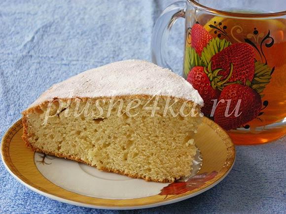 Простой пирог на сметане и маргарине