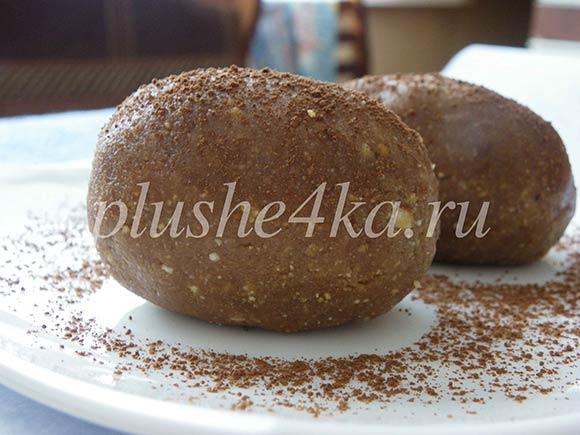 Пирожное «Картошка» из печенья и сливочного масла