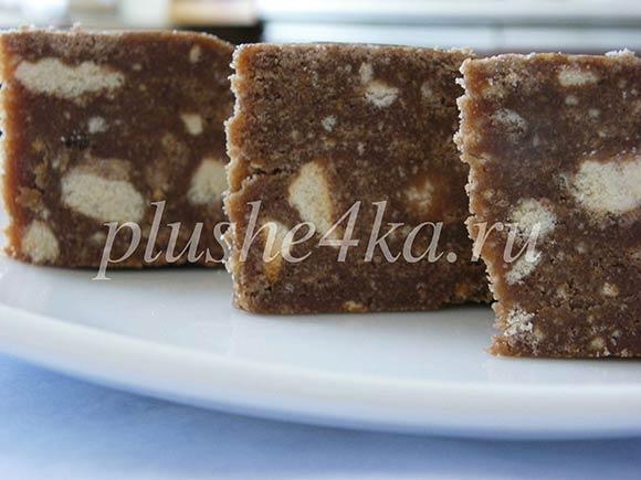 Шоколадный торт из печенья с какао без выпечки