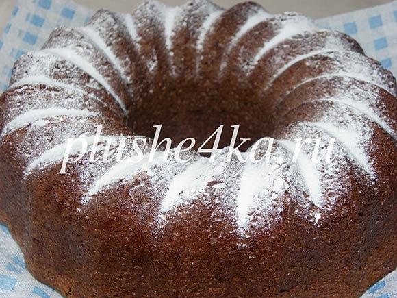 Шоколадный пирог с какао, приготовленный в духовке