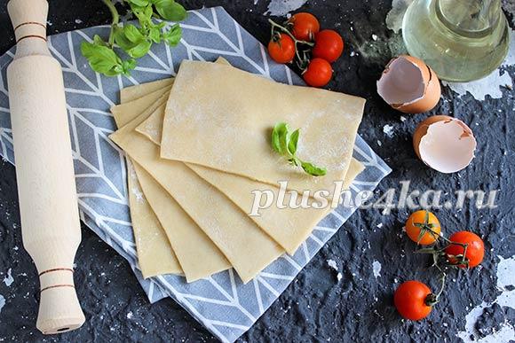 Тесто для лазаньи, приготовленное в домашних условиях