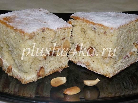 Манник с орехами, приготовленный в духовке