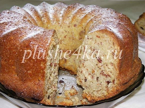 Ореховый кекс, приготовленный в духовке
