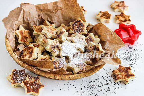 Печенье с медом на сковороде