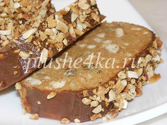 Торт из печенья и сгущенного молока без выпечки