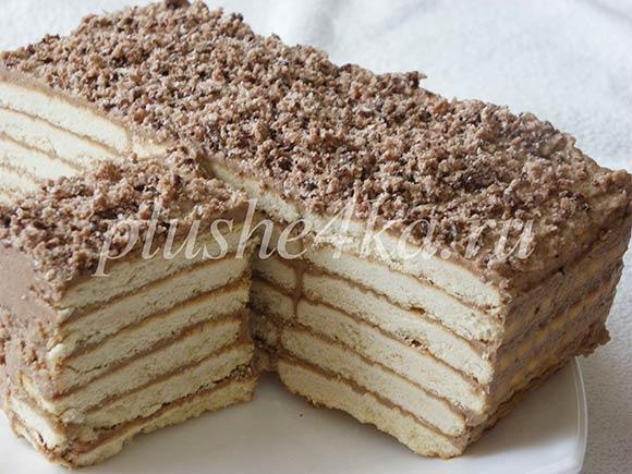 Торт из печенья с кремом из сгущенного молока