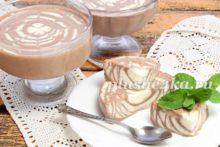 Сметанное желе с какао Зебра