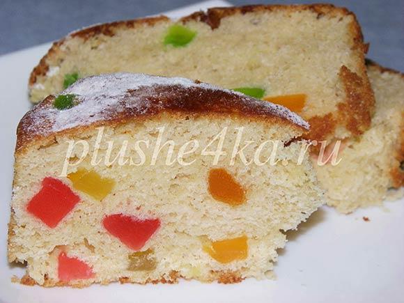 Дрожжевой пирог с цукатами