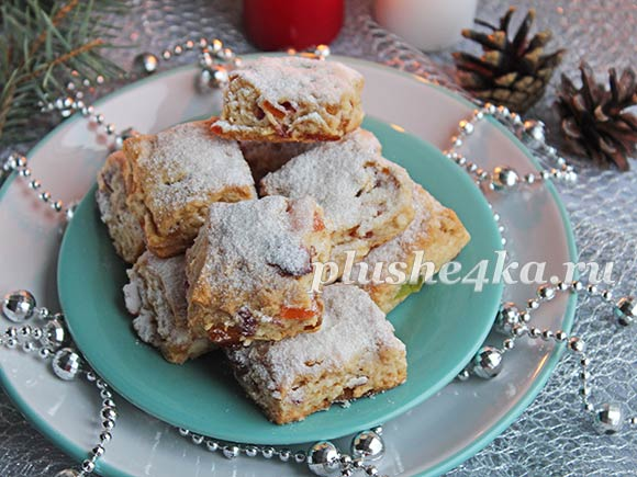 Творожное печенье «Штолленки»