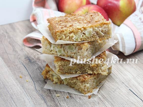 Пирог с тыквой и яблоками на кефире