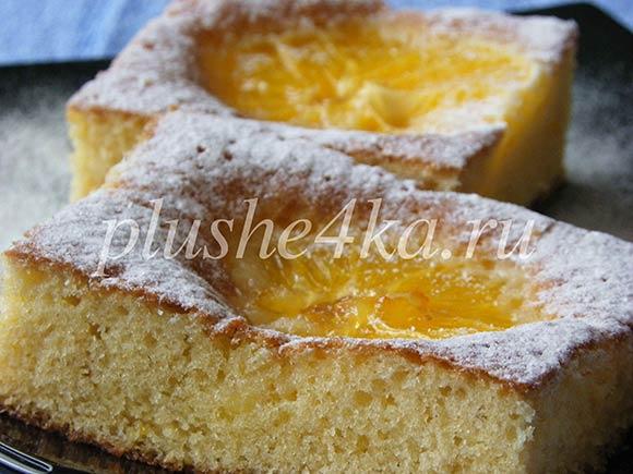 Открытый пирог с апельсинами