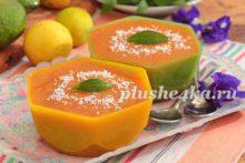 Желе из манго