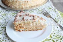 Бисквитный торт с прослойкой из безе