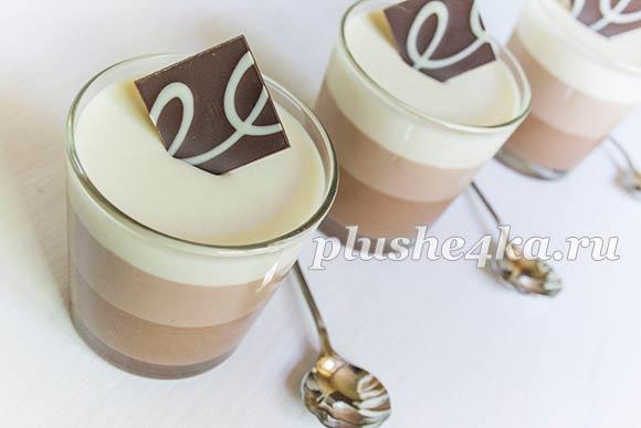 Десерт «Три шоколада»