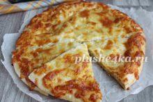 Хачапури на кефире с сыром, приготовленное в духовке