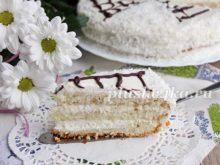 Кокосовый торт, приготовленный в мультиварке