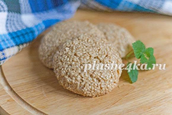 Кунжутное печенье без муки и масла