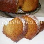 Медовый кекс, приготовленный в духовке