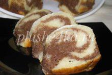 Мраморный кекс на кефире