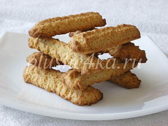 Песочное печенье «Поленце» через мясорубку
