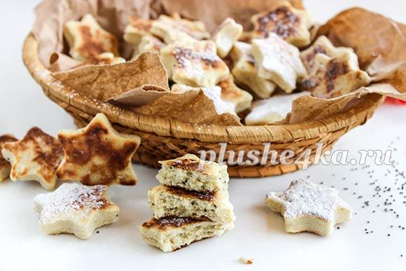 Медовое печенье на сковороде