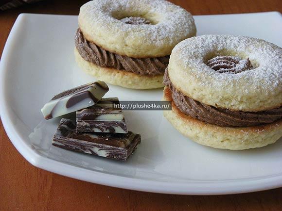 Песочное печенье с кремом