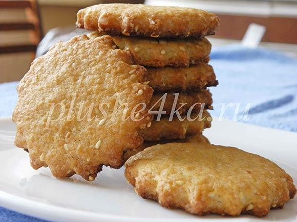 Песочное печенье с кунжутом рецепты