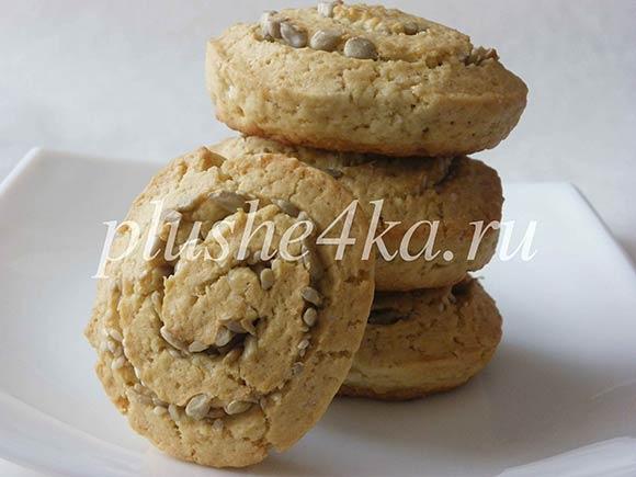 Песочное печенье с семечками