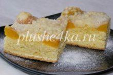 Песочный пирог с абрикосами