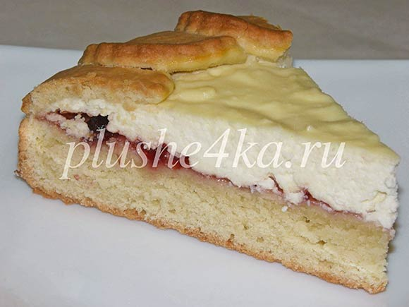 Пирог «Дружба» с творогом и повидлом