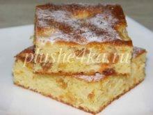 Нежный пирог из творожного теста с яблоками