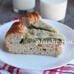 Пирог со шпинатом и творогом