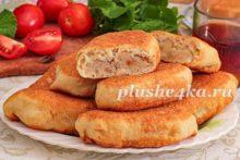 Пирожки с картошкой на кефире, жареные на сковороде