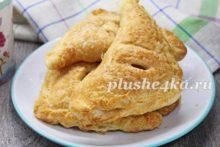Пирожки с яблоками из слоеного теста