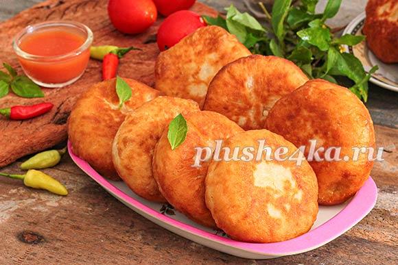 Жареные беляши с картошкой