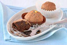 Шоколадные трюфели из темного шоколада