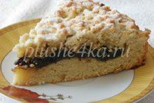 Тертый пирог с повидлом