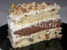 Торт «Генерал» с орехами и изюмом
