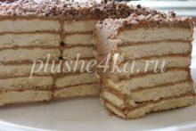 Торт из печенья с кремом из сгущенки