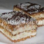 Торт из печенья с творожным кремом